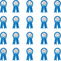 Blue anniversary ribbon for in year increments Stock Images