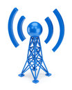 Blue antenna icon Stock Photos