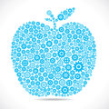 Blue apple with gear Royalty Free Stock Photo