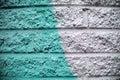 Blue Aqua Green Gray Brick Wall Background Royalty Free Stock Photo