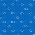 Blue aquarium fish pattern