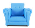 Blue armchair isolated on white background Royalty Free Stock Photography