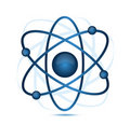 Blue atom Stock Photos