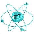 Blue atom Royalty Free Stock Photography