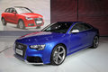 Blue audi rs 5 Royalty Free Stock Photography