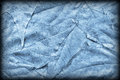 Blue Autumn Foliage Background Vignetted Grunge Texture Royalty Free Stock Photo