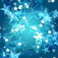 Blue azure and white stars Royalty Free Stock Photography