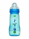 Blue baby bottle plastic isolated on white Stock Image