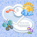 Blue baby card Stock Image