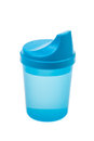 Blue Baby Sippy Cup Royalty Free Stock Photo
