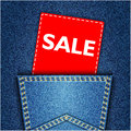 Blue back jeans pocket realistic denim texture wit Stock Photos