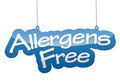 Blue background allergens free