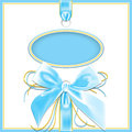 Blue background  bow Stock Photo
