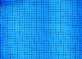 Blue background bright tile wall Royalty Free Stock Images