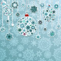 Blue background with christmas balls eps vector file included Royalty Free Stock Image