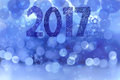 2017 On Blue Background