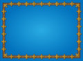 Blue background framed with cross pattern Royalty Free Stock Photo