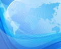 Blue background with globe 3 Royalty Free Stock Photo