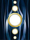 Blue background with gold rings Royalty Free Stock Photos