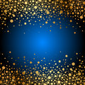 Blue background with gold sparkles vector Stock Photos