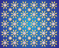 Blue background of golden Christmas Star Royalty Free Stock Images