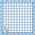 Blue background with lace frame Royalty Free Stock Photo