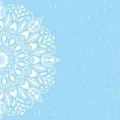 Blue background mandala vector Royalty Free Stock Photo