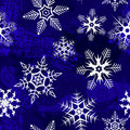 Blue background with snowflakes Royalty Free Stock Photo