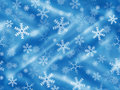 Blue background with snowflakes and drapery christmas Royalty Free Stock Image