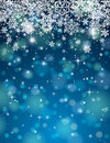 Blue background with snowflakes vector many illustration Stock Photo