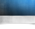 Blue background texture with silver banner - Christmas template
