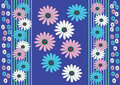 Blue background whit flower Stock Photos