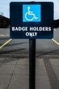 Blue badge Royalty Free Stock Photo