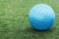 Blue ball on green grass nice Stock Photos