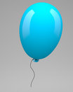 Blue balloon on grey background Stock Photo