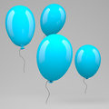 Blue balloons ballioons on grey background Stock Photo