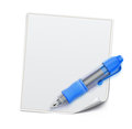 Blue ballpoint pen Royalty Free Stock Photos