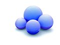 Blue balls on white background Royalty Free Stock Image