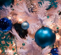 Blue Balls and White Tree Stock Images