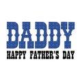 Blue bandana daddy fathers day