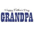 Blue bandana grandpa happy fathers day