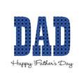 Blue bandana happy fathers day