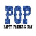 blue bandana pop fathers day