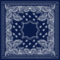 Blue Bandana Royalty Free Stock Photo