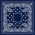 Blue Bandana Royalty Free Stock Photo