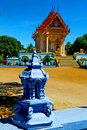 Blue bangkok thailand incision of the buddha gold temple kho samui in Stock Photography