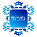 Blue banner Royalty Free Stock Image