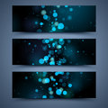 Blue banners abstract backgrounds and black Royalty Free Stock Images