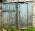 Blue barn door Royalty Free Stock Photo