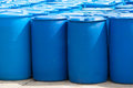 Blue Barrels Royalty Free Stock Images